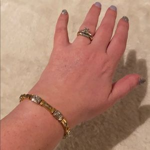 18k Gold Over Sterling Silver CZ Tennis Bracelet